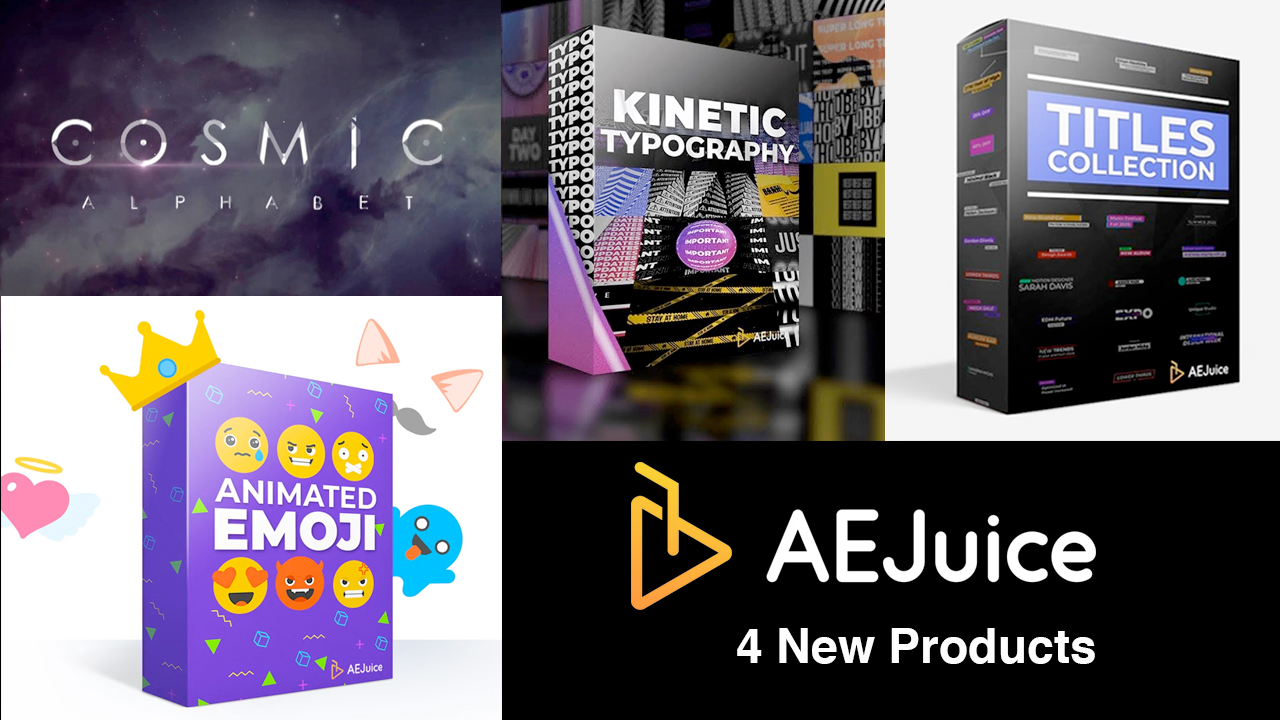 aejuice 4 new products