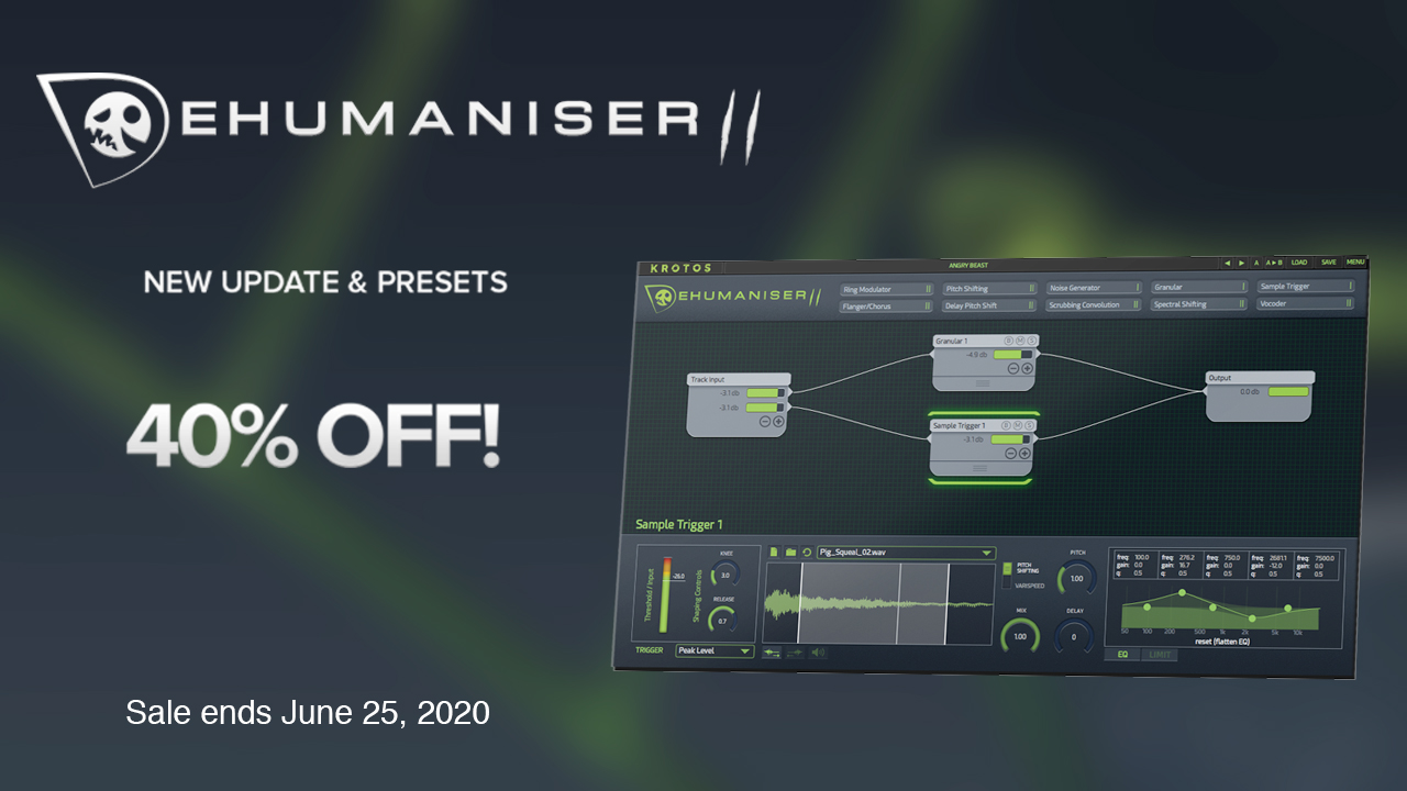 dehumaniser II update and sale