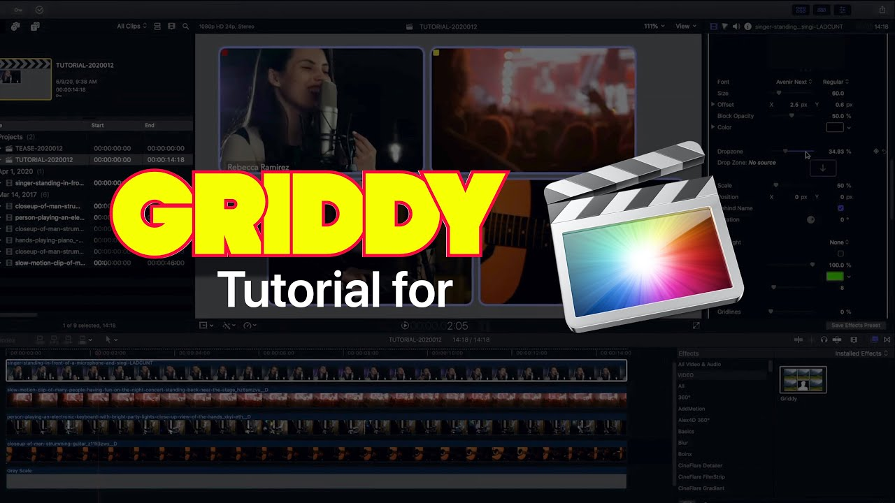 Griddy for Final Cut Pro