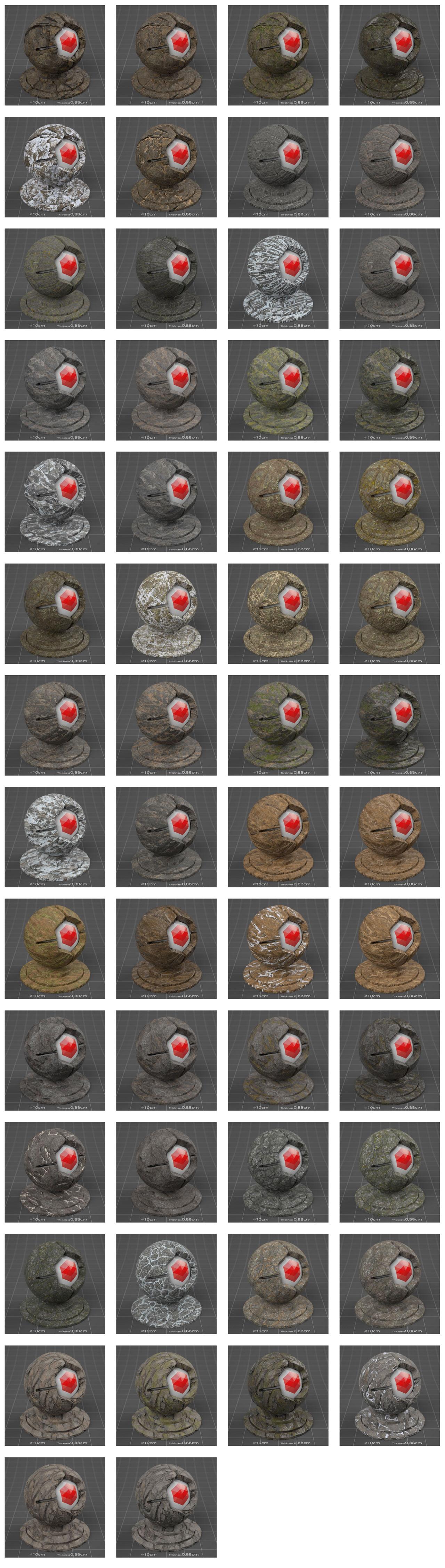 pixel lab mutating stones granite