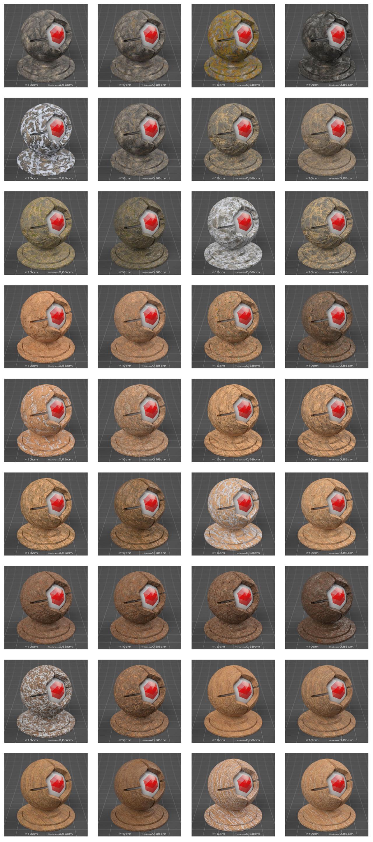 pixel lab mutating stones sandstone