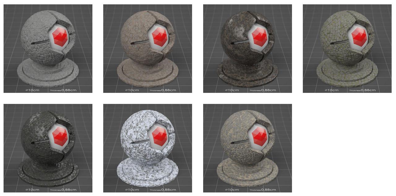 pixel lab mutating stones pavement granite