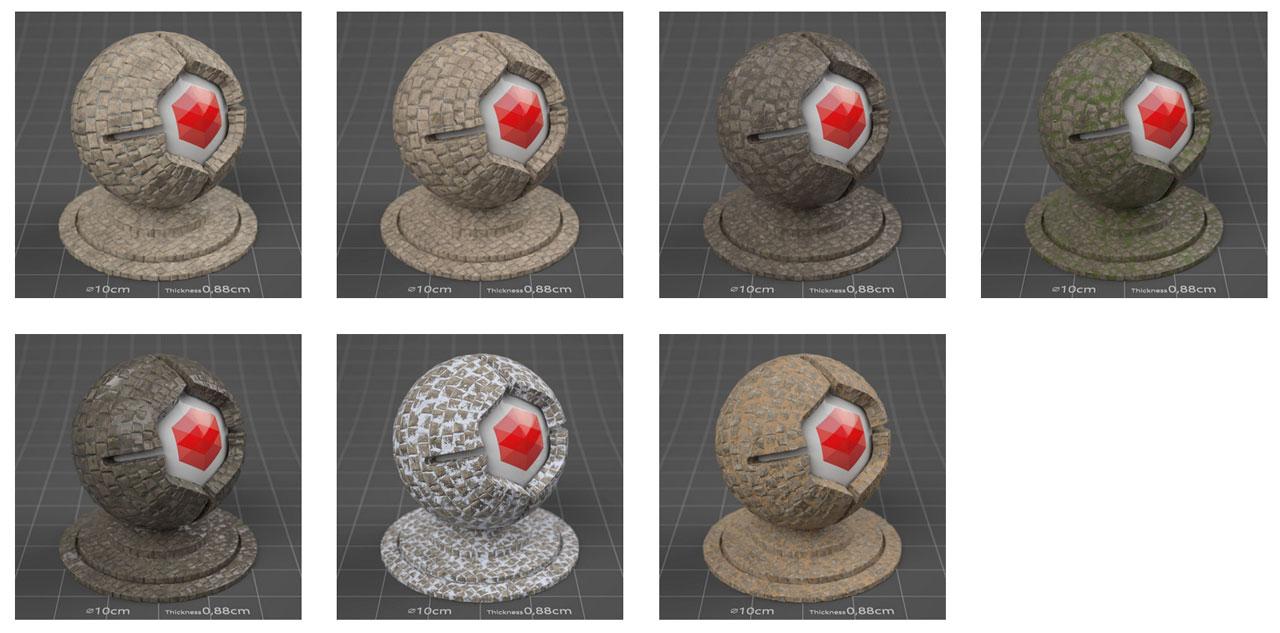 pixel lab redshift mutating stones pavement limestone