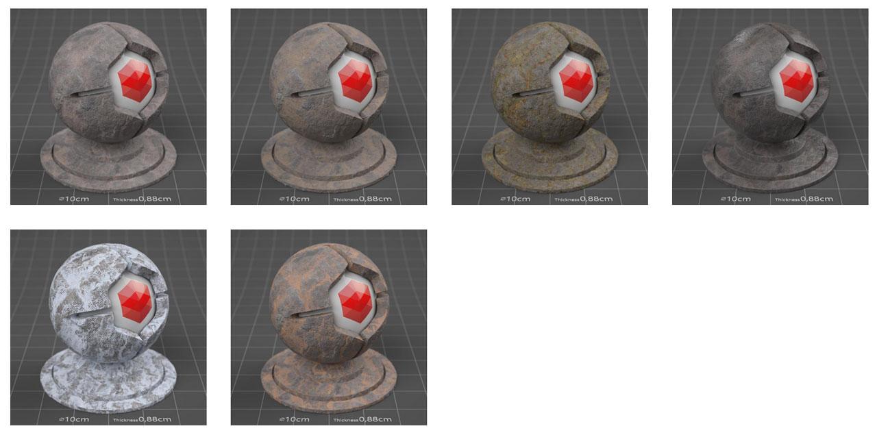 pixel lab redshift mutating stones rock fieldstone