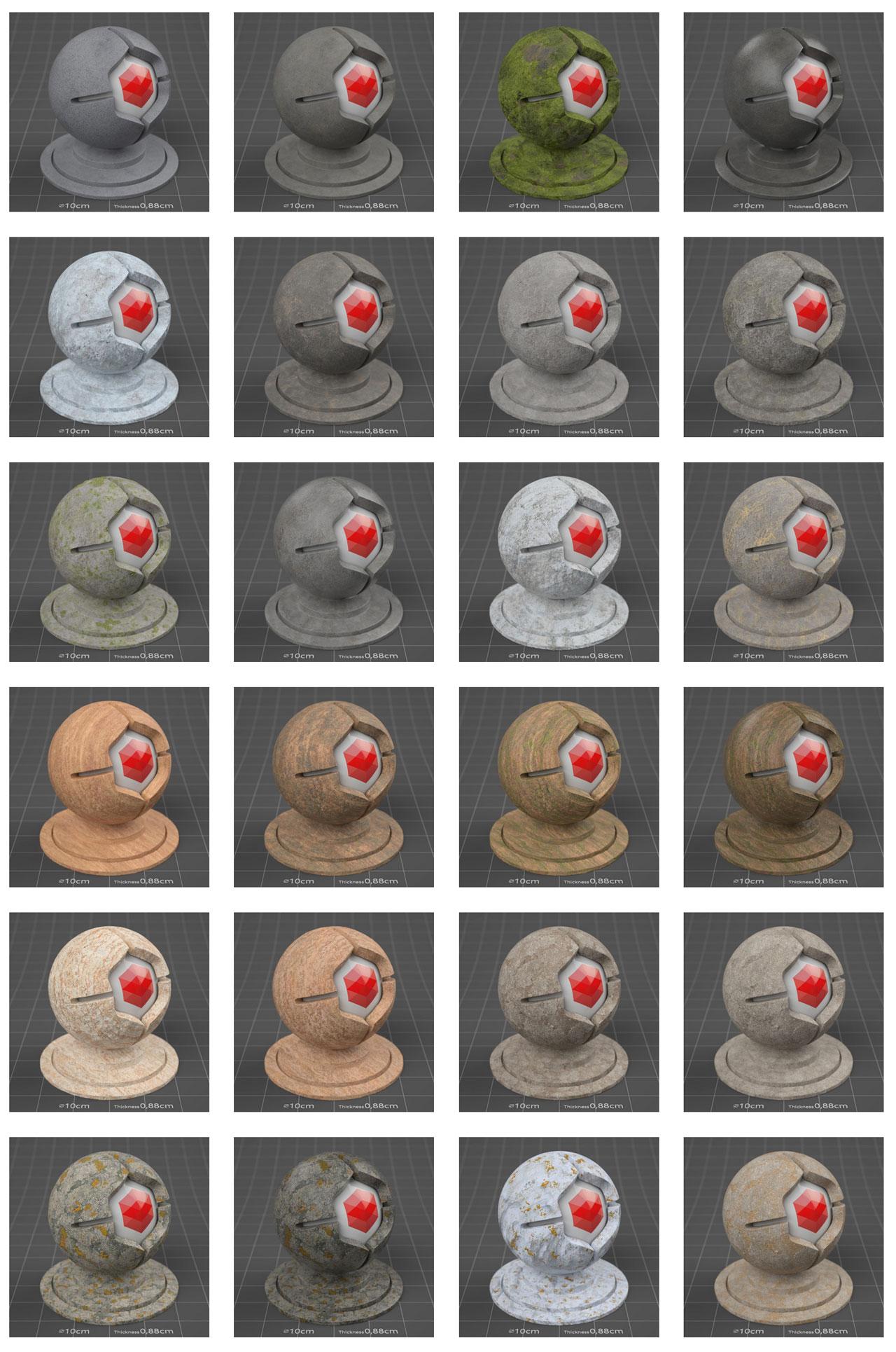 pixel lab redshift mutating stones rock sandstone