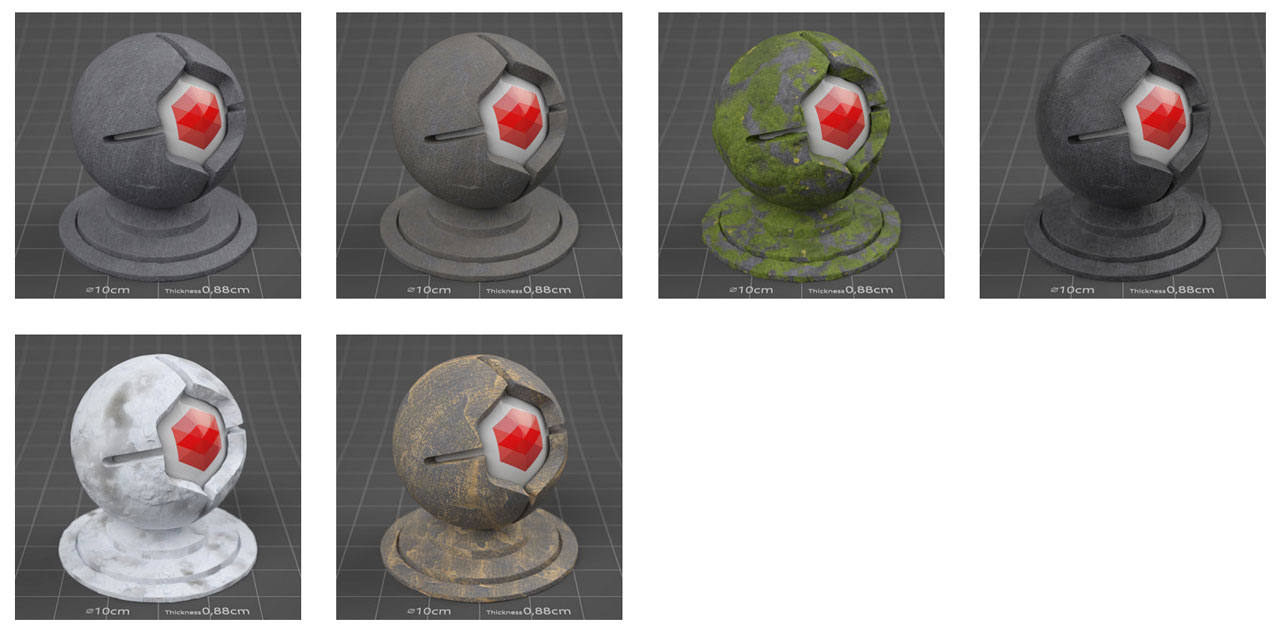 pixel lab redshift mutating stones rock slate