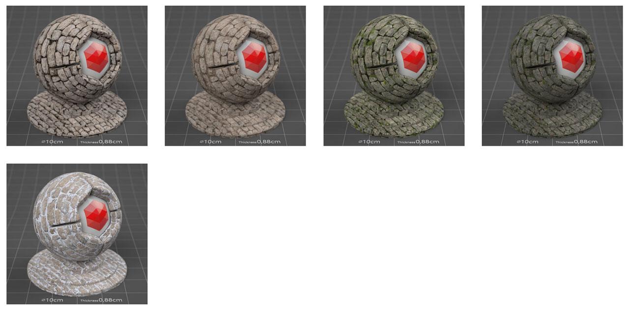 pixel lab redshift mutating stones wall fieldstone