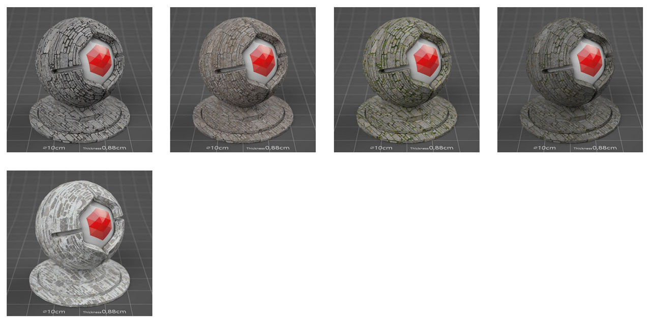pixel lab redshift mutating stones wall granite
