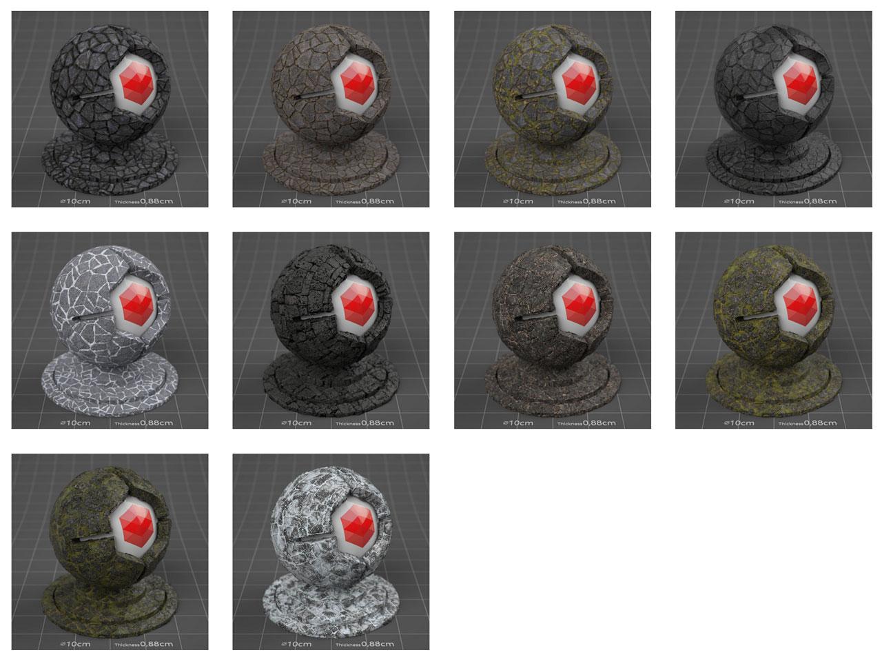pixel lab redshift mutating stones wall lavastone