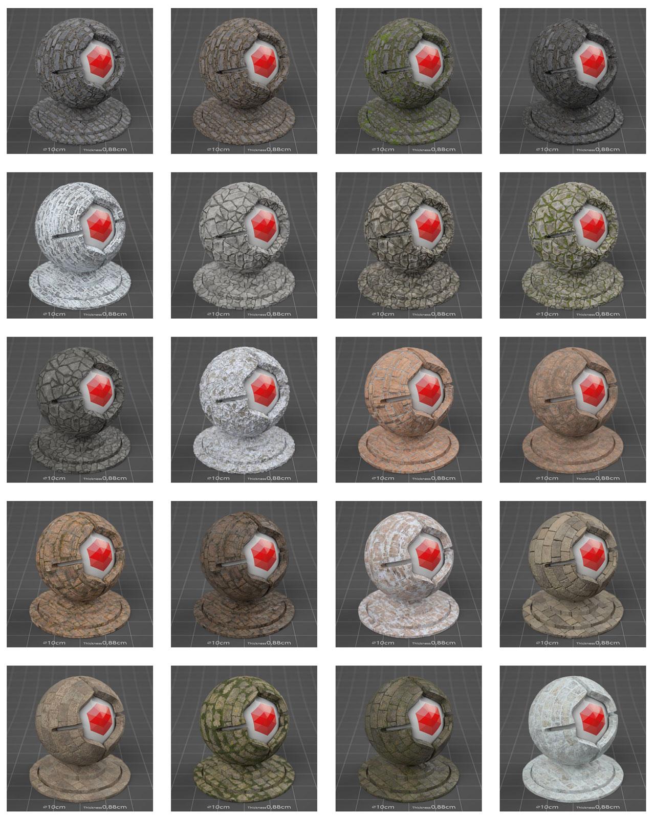 pixel lab redshift mutating stones wall sandstone
