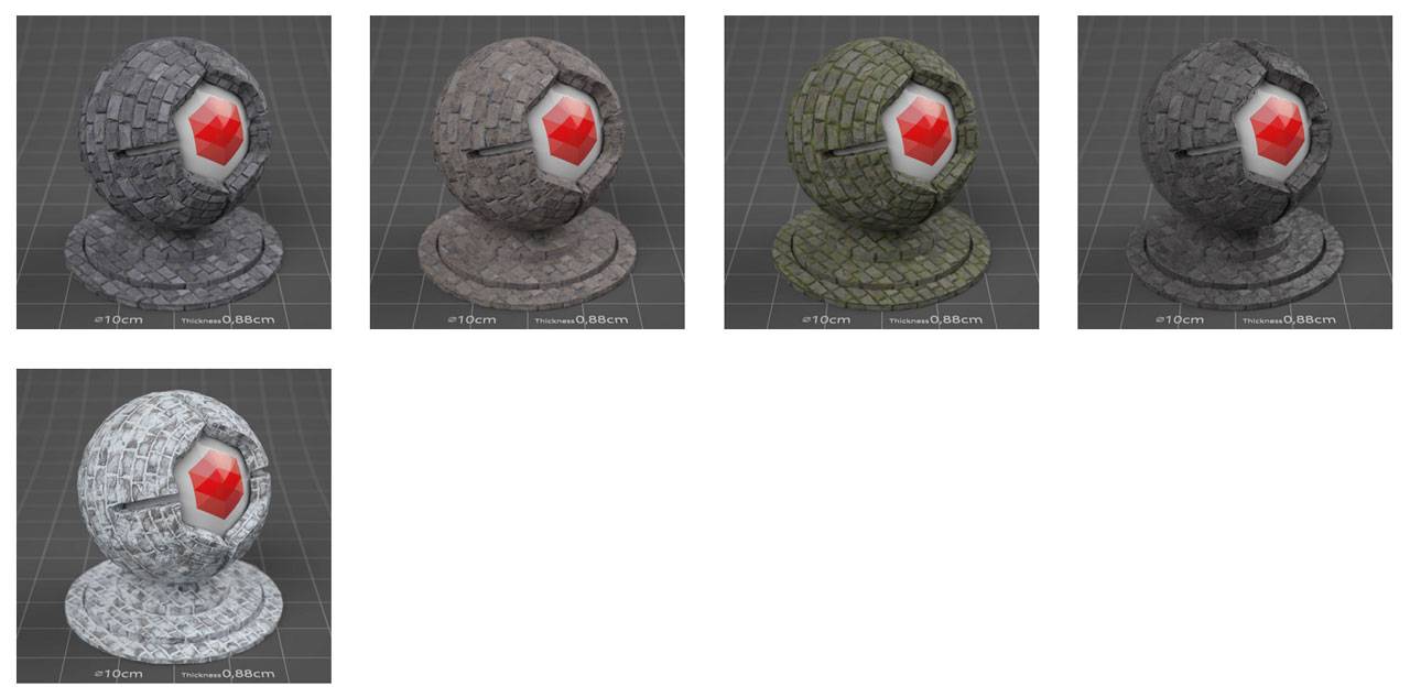 pixel lab redshift mutating stones wall slate
