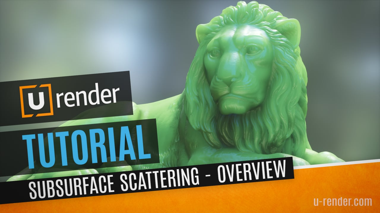 U-Render subsurface scattering tutorial