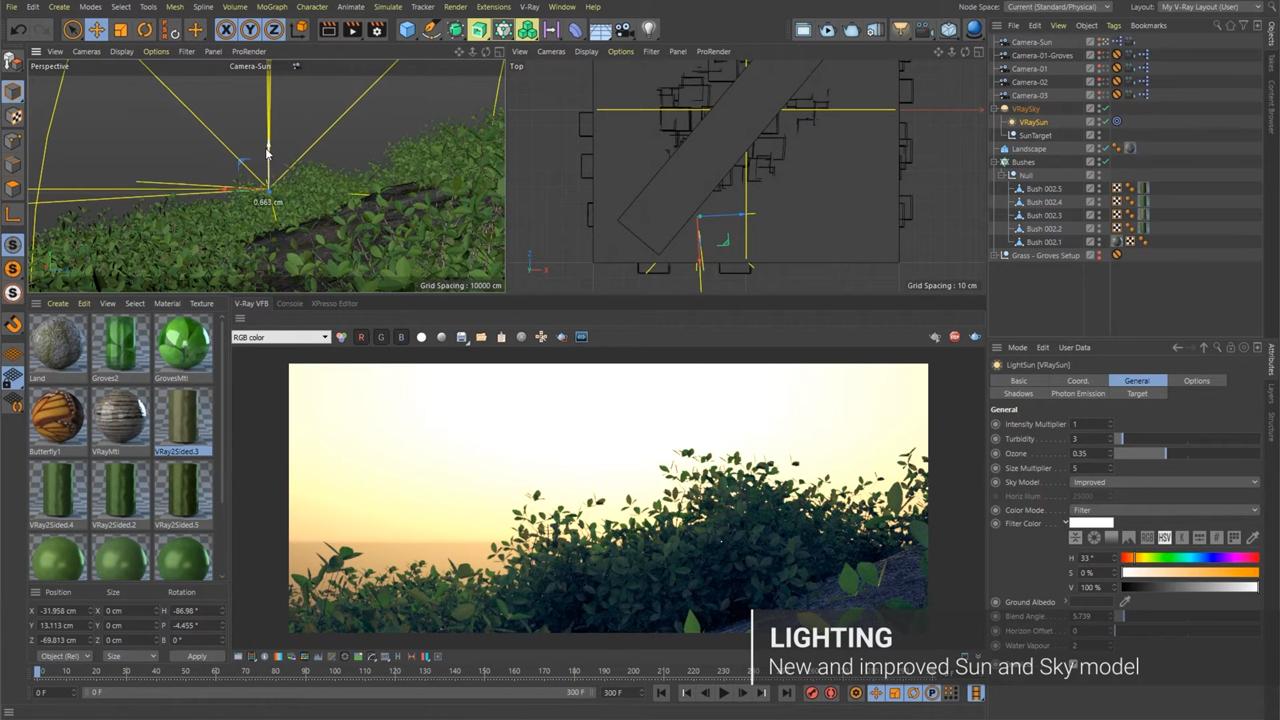 v-ray for cinema 4d sneak peek