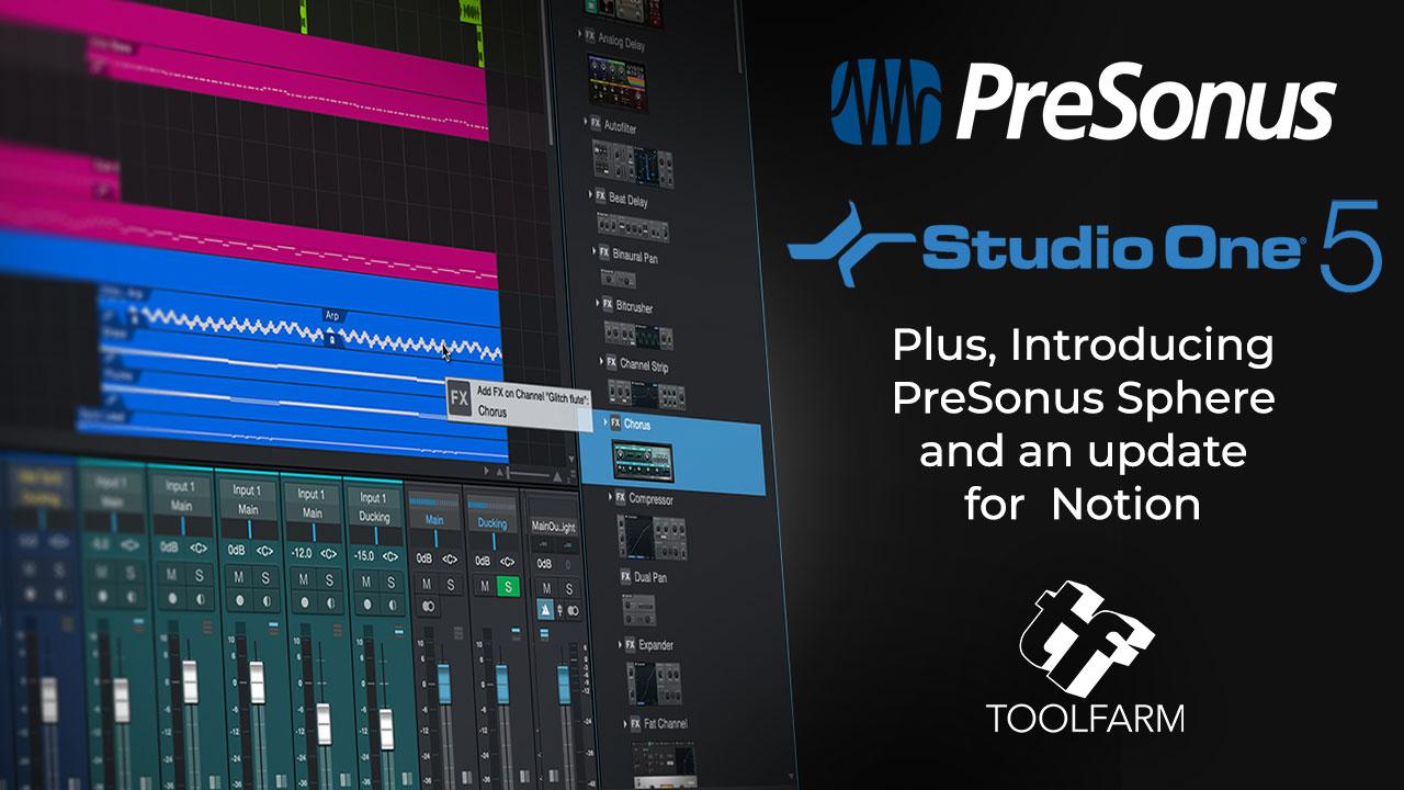PreSonus Studio One 5 announcement