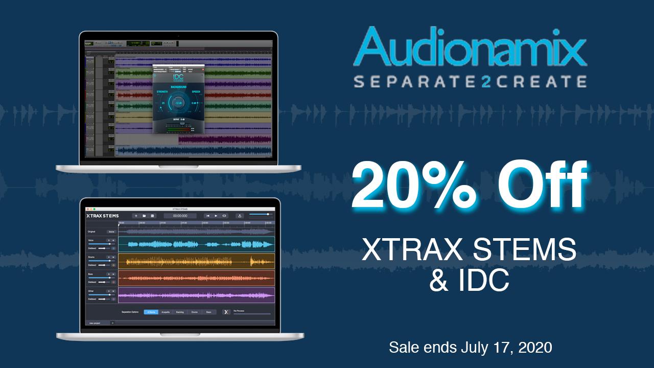 audionamix 20% off sale