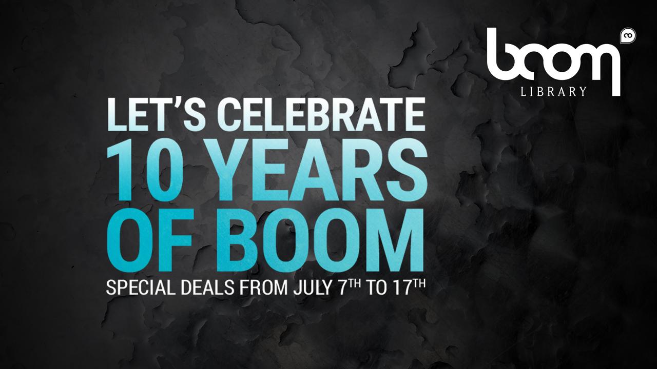 boom library birthday sale 10% off