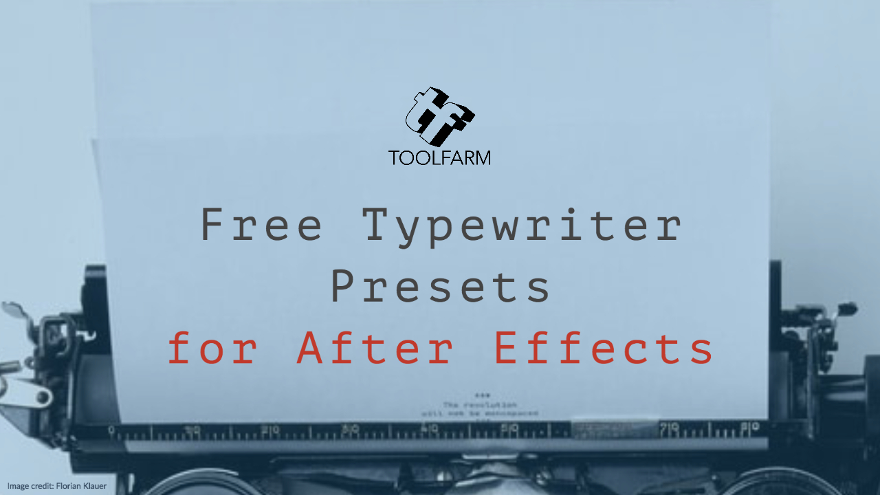Freebie: Typewriter Presets for After Effects