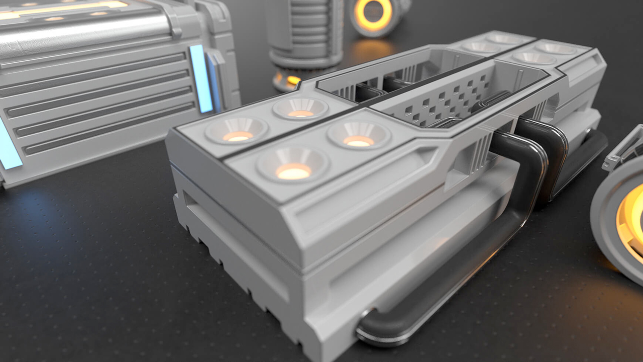 pixel lab hard surface kitbash freebie
