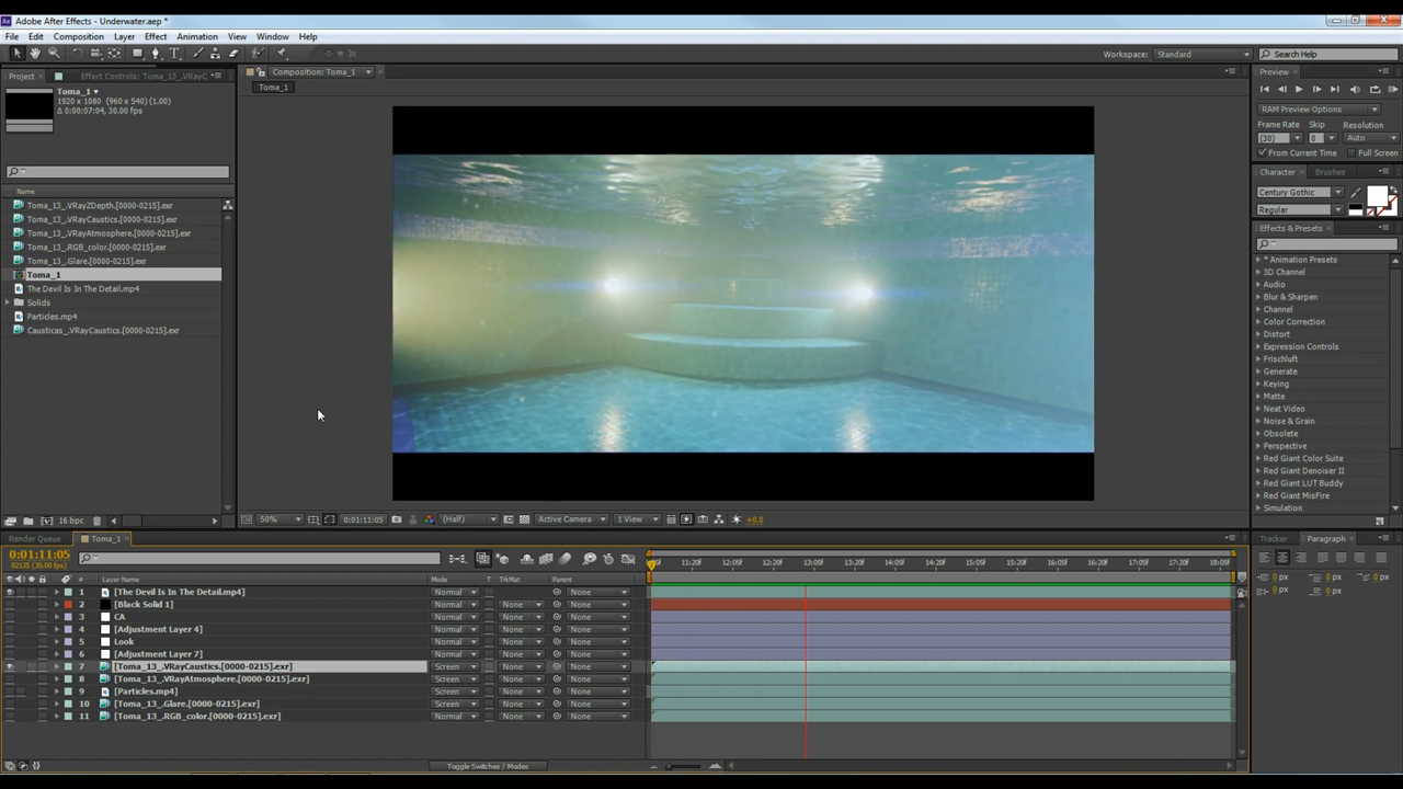 render an underwater scene tutorial