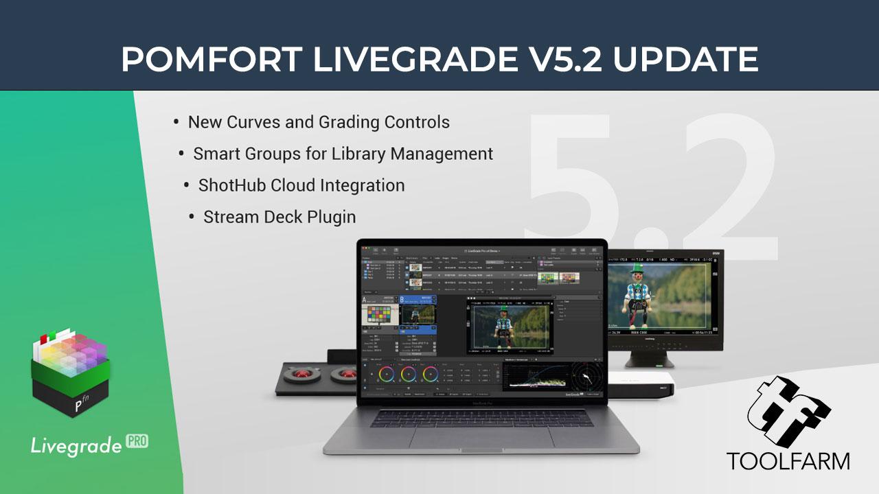 Update: Pomfort Live Grade Studio & Pro to v5.2