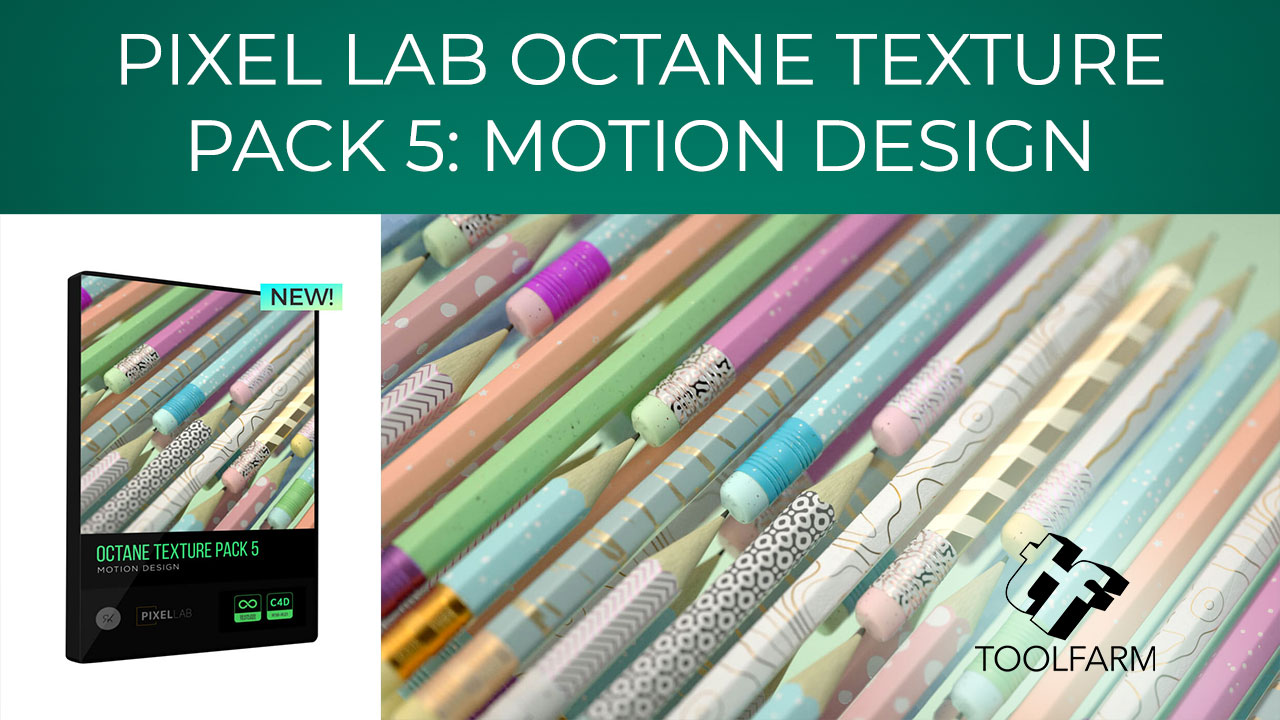 Pixel Lab Octane Texture Pack 5: Motion Design – a unique pack with 500 variations created just for motion designers. Everything is fully customizable, easy to modify, and ready for your next project! All textures are 16 bit, 4k and tileable. In fact, most are even set up with Triplanar Mapping. To explain, Triplanar Mapping makes it incredibly easy to use.