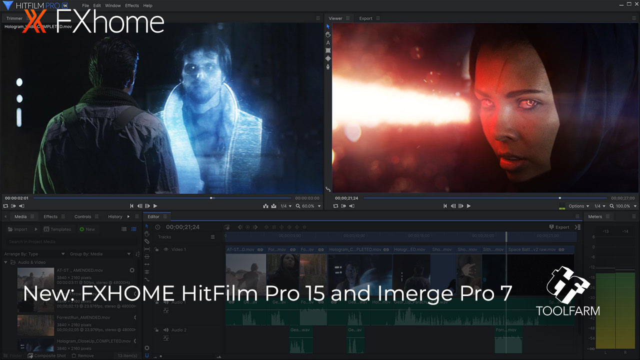 Yesterday, FXHOME released major updates: HitFilm Pro 15 and Imerge Pro 7. Check out the awesome new features and try a demo today!