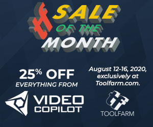 video copilot sale of the month on the Barrels of Tricks post