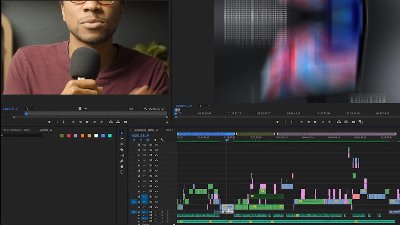 Josh Olufemii shows you how to use markers in premiere pro
