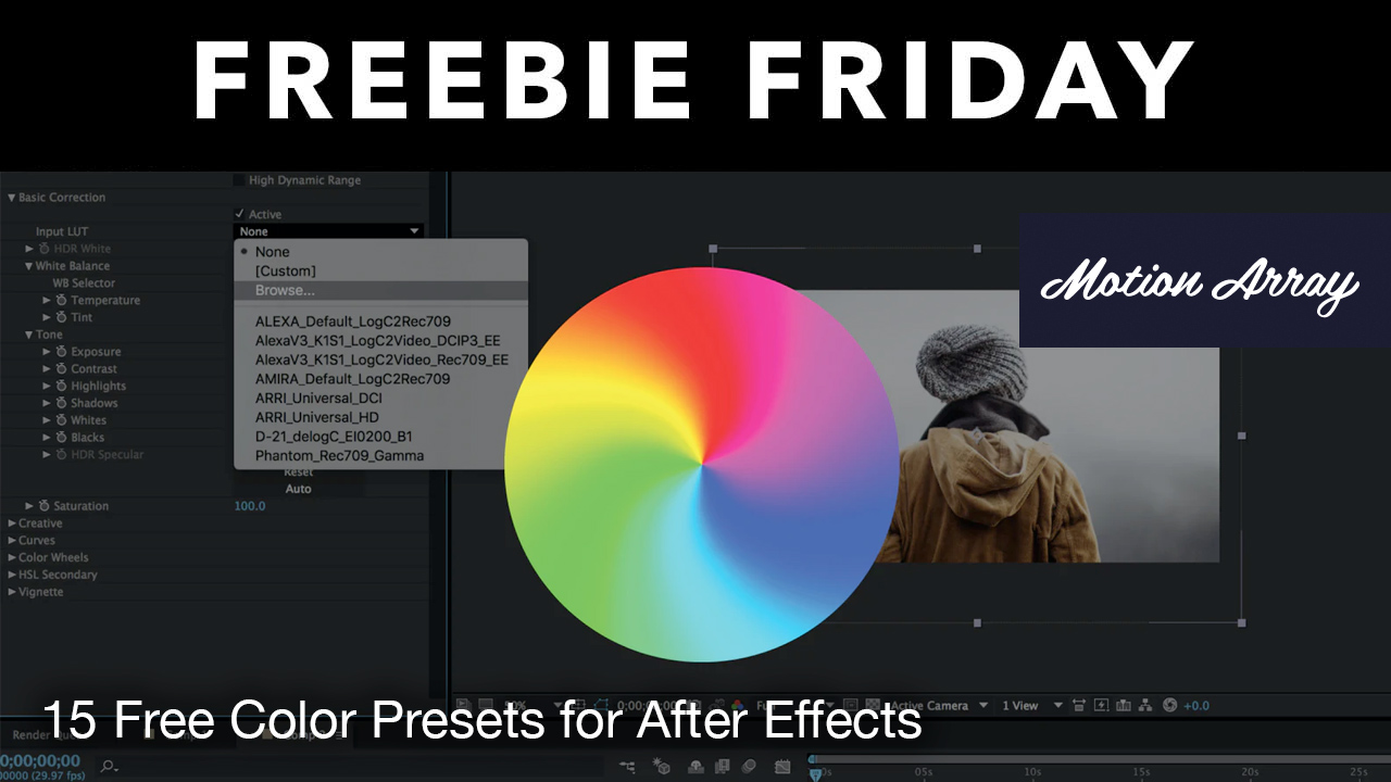 free color presets for AE