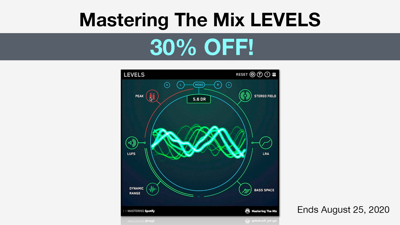 mastering the mix levels 30% off