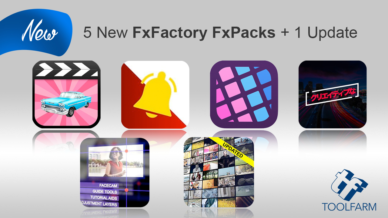 fxfactory 5 new packs + 1 update