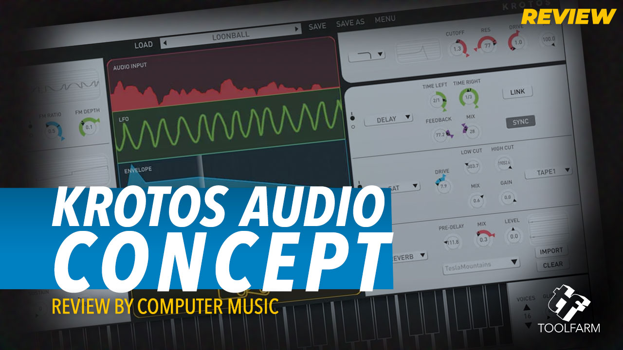 Krotos Audio Concept, a synth plugin, gets a review from Computer Music. Learn the Pros and Cons, performance, specifications, and more.v