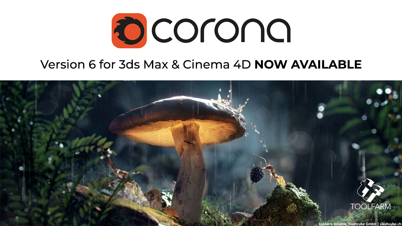 New: Corona Renderer 6 for 3ds Max and Cinema 4D Released