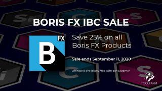 Boris fx Virtual IBC 2020 Sale