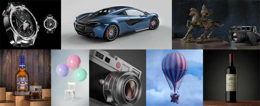 Blender renders lit with HDR Light Studio during beta testing