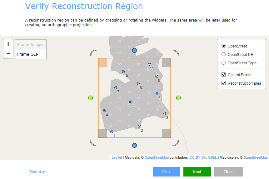 RealityCapture verify reconstruction region