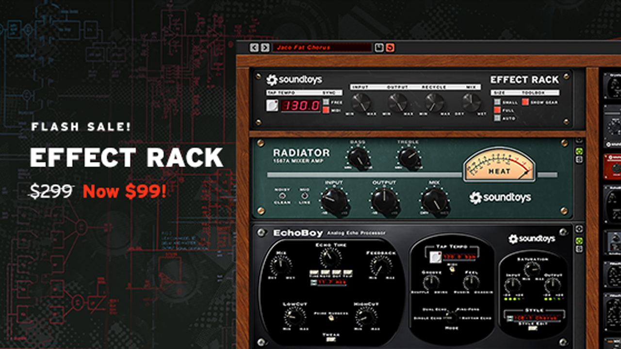 soundtoys effects rack only $99