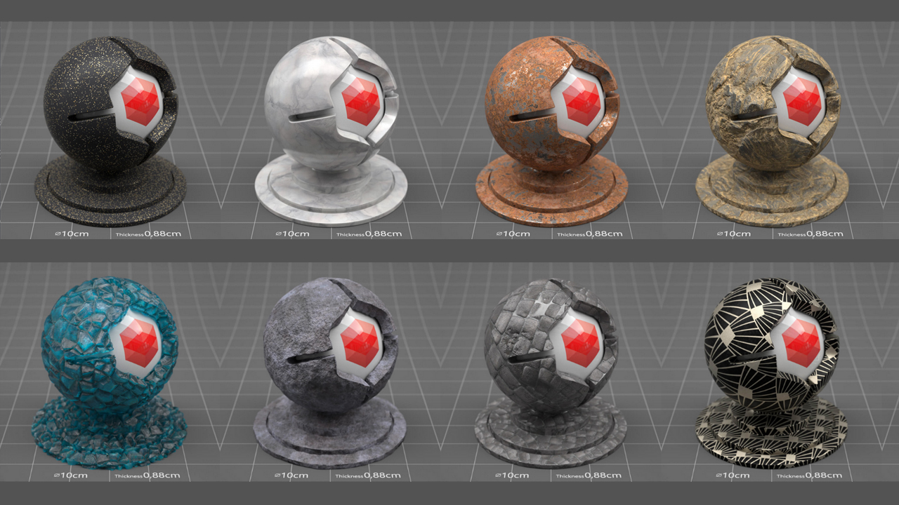 redshift material pack 4