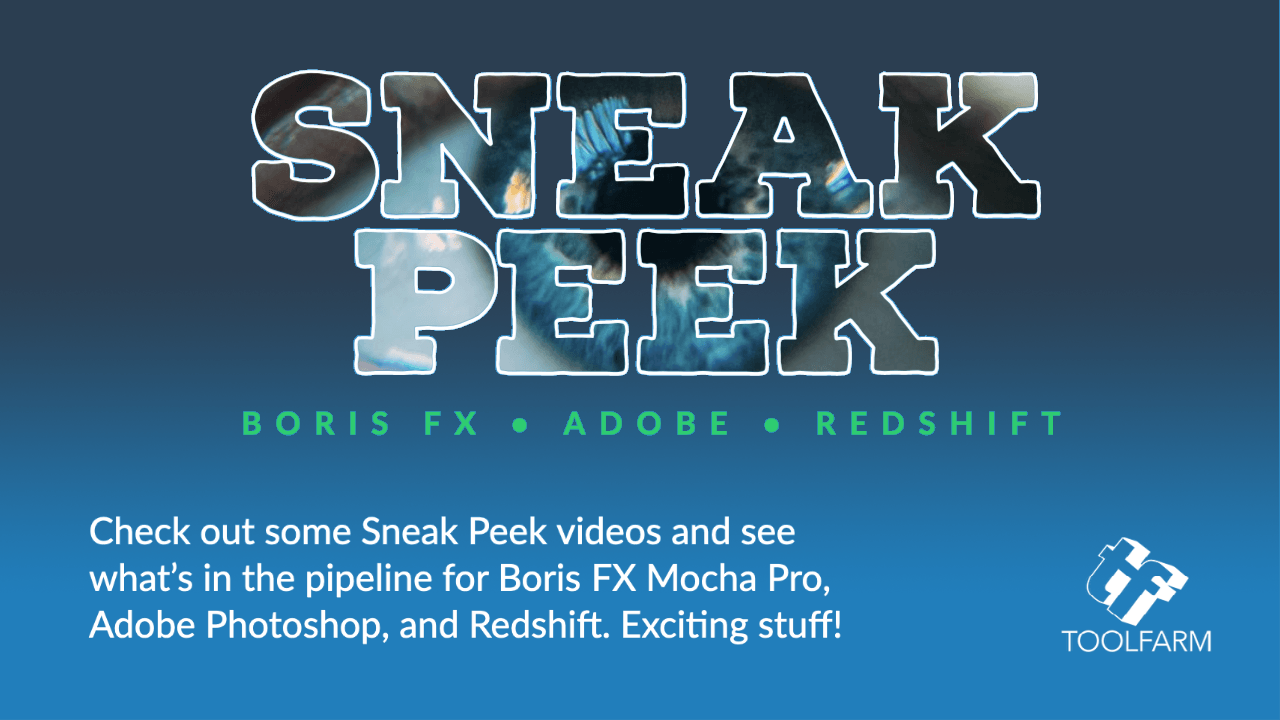 sneak peek Boris Fx Adobe Redshift