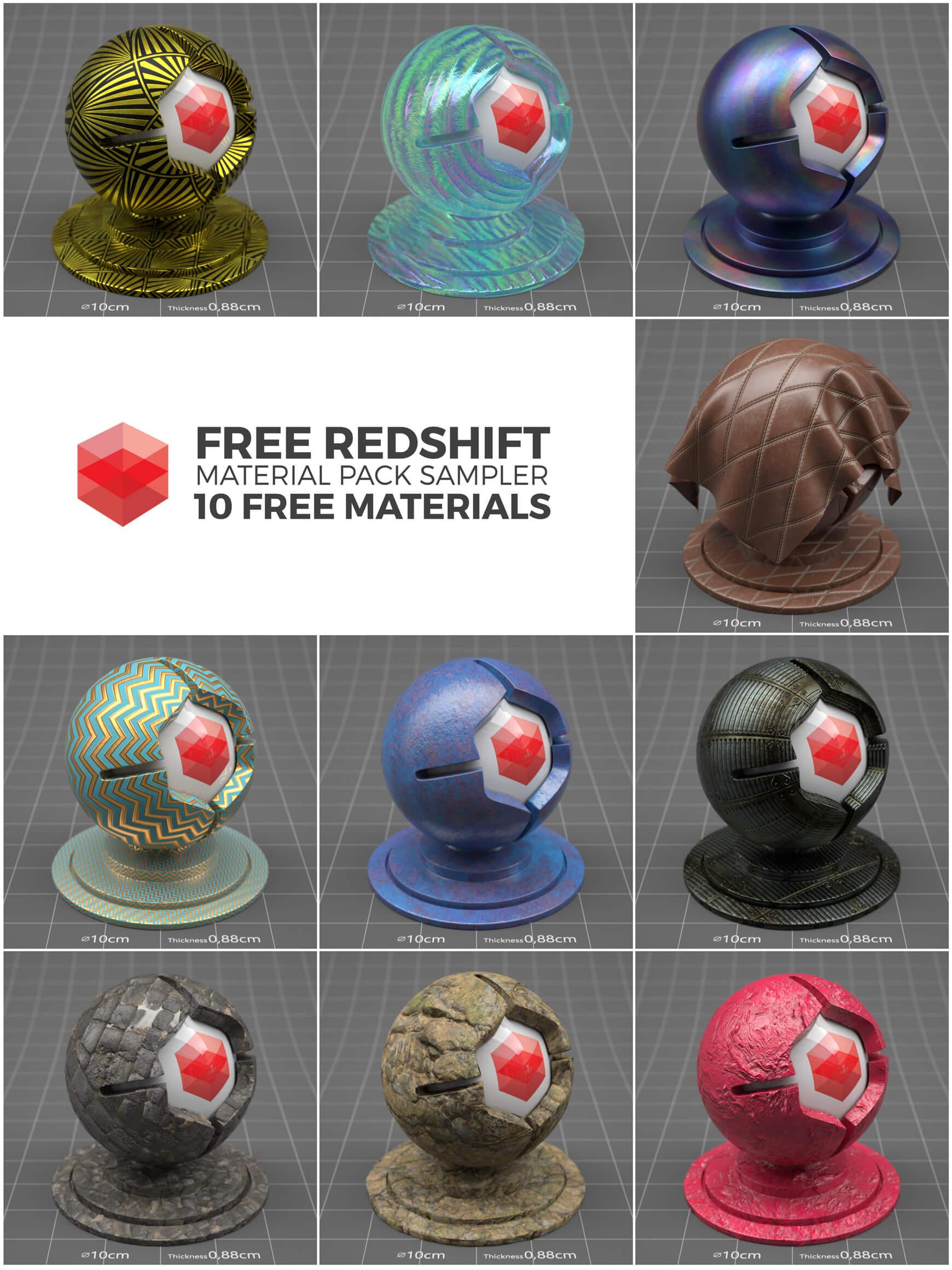 redshift sampler pack