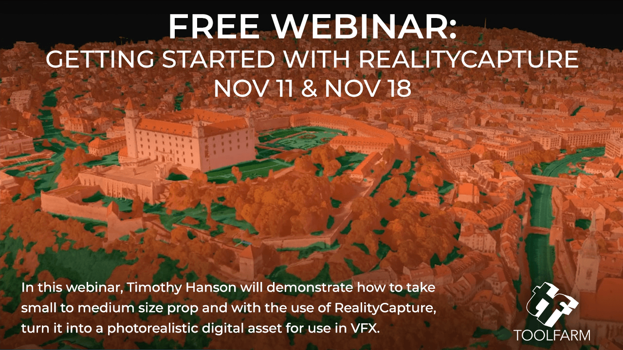 Webinar: Getting started with RealityCapture - Turn a Prop into a Photorealistic Asset for VFX