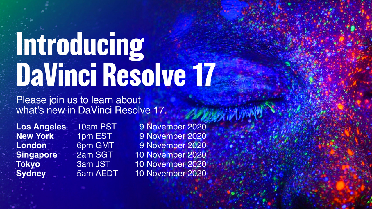 davinci resolve 17 coming soon