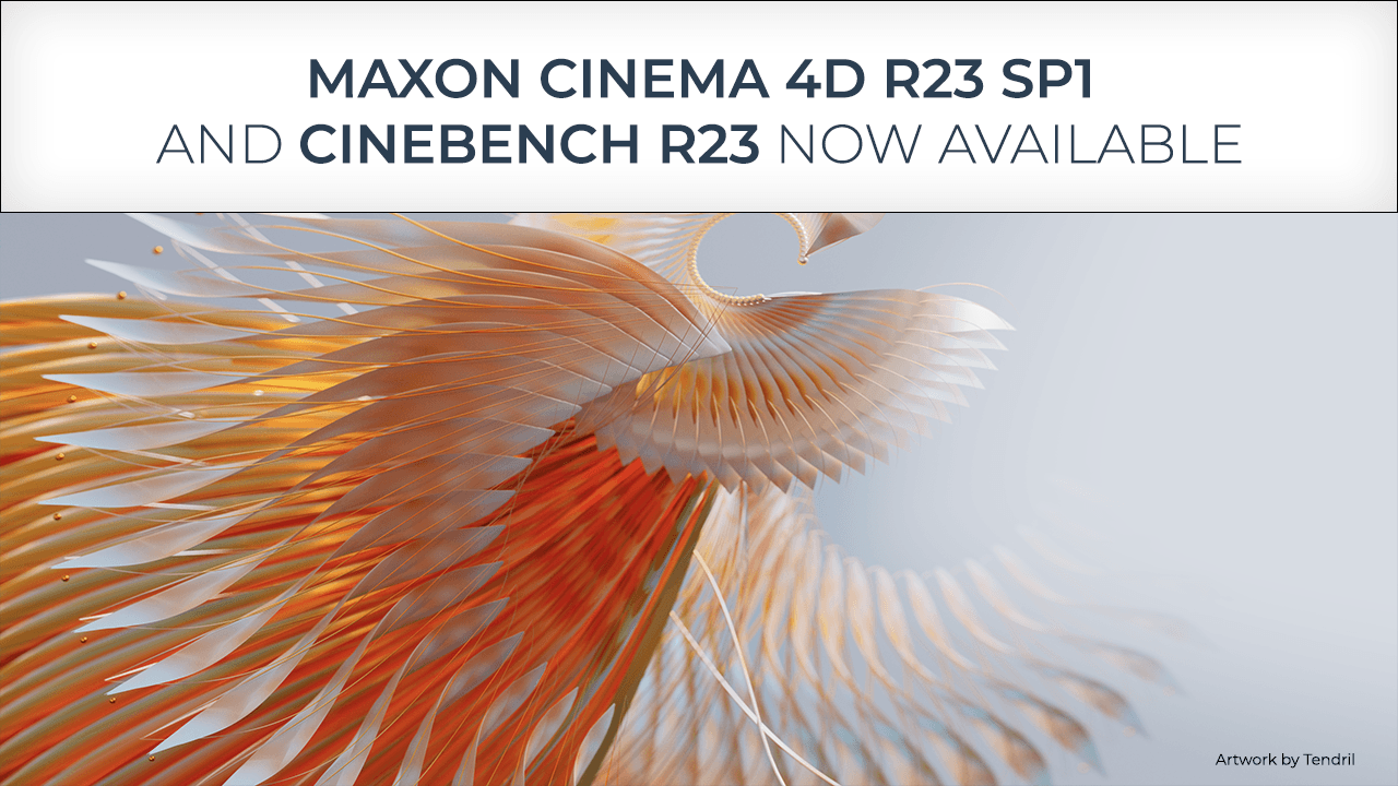 Updates: Cinema 4D R23 SP1 and Cinebench R23 Now Available