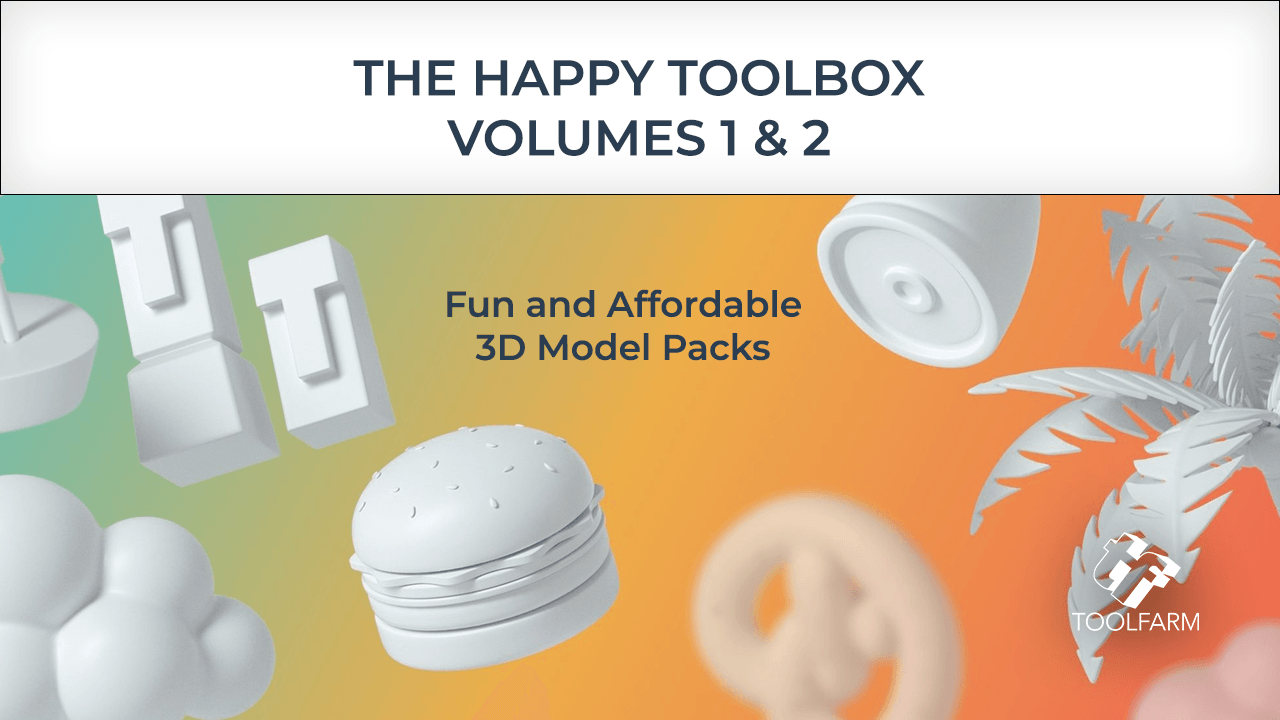 The Happy Toolbox 3D model packs are fun and affordable 3D models. They are stylistically unified 3D assets for creative people everywhere.