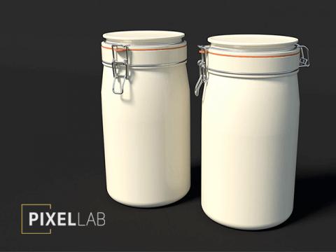 Pixel lab kitchen jars