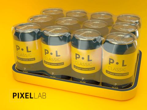 Pixel Lab free model aluminum can