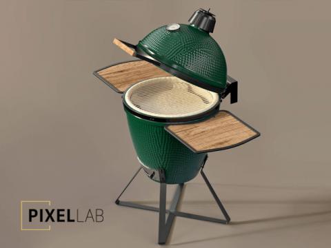 Green egg bbq grill free 3d model the pixel lab