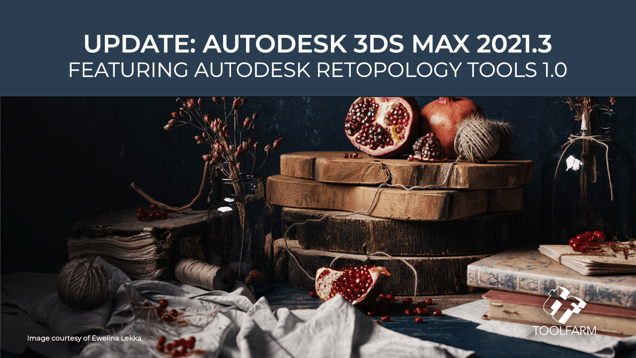 Last week, Autodesk released 3ds Max 3ds Max 2021.3, an update that includes new Retopology Tools and more. The update also includes fixes.