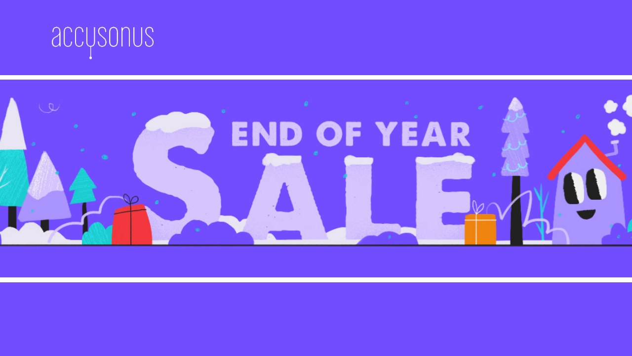 accusonus year end sale