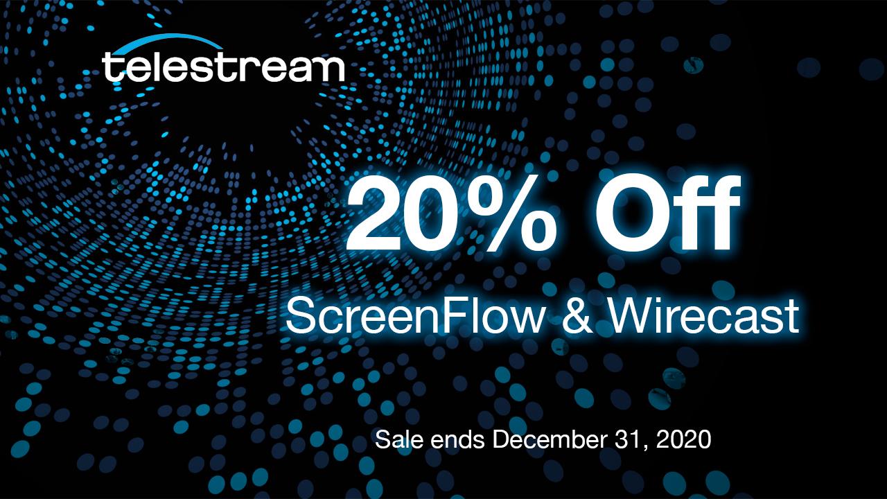 telestream 20% off